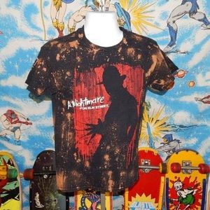 A Nightmare On Elm Street Bleached T-shirt S